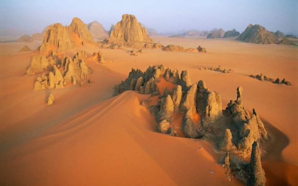 Deserto do Sahara no Chade