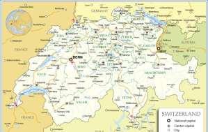 Mapa da Suiça
