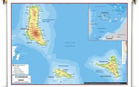 Mapa das Comores