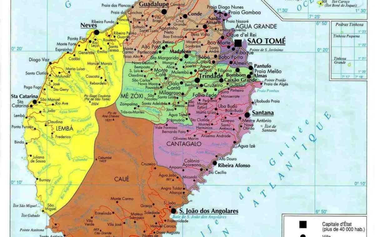 mapa de s tomé SANTO TOMÉ E PRÍNCIPE – Amantes de Viagens mapa de s tomé