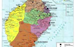 Mapa de São Tomé e Príncipe