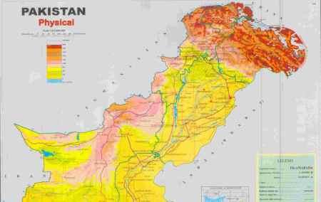 Mapa do Paquistão