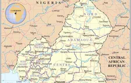 Mapa dos Camarões