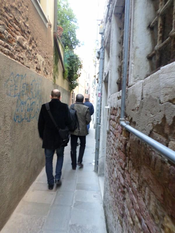 Ruas labirinticas de Veneza