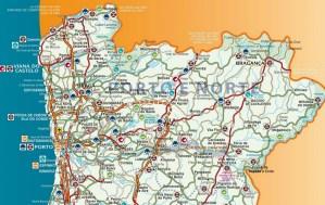 Distritos de Portugal: Viana do Castelo, Braga, Bragança, Vila Real e Porto