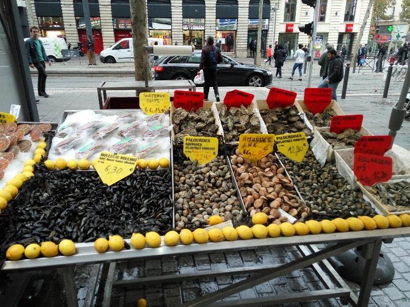 Marselha-venda de marisco