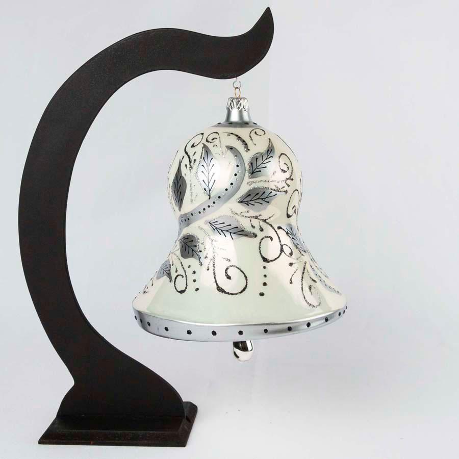Hand Blown Glass Christmas Bells Ornaments