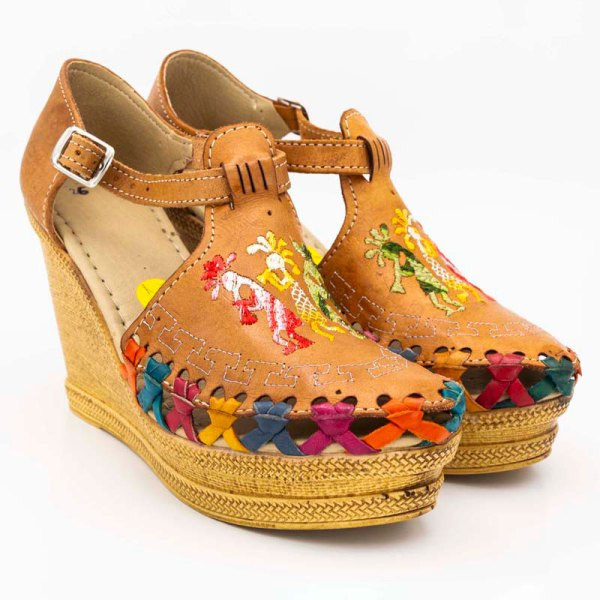 amantli mexican handmade women camelia huarache sandal shoe honey pair view