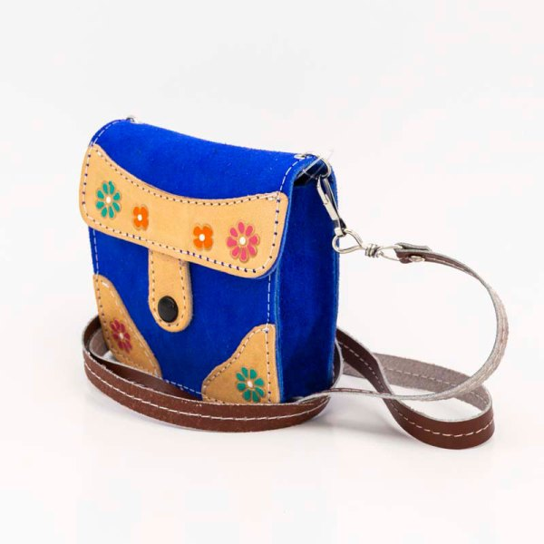 handmade-iris-girls-blue-suede-leather-mexican-handbag-front-view-105