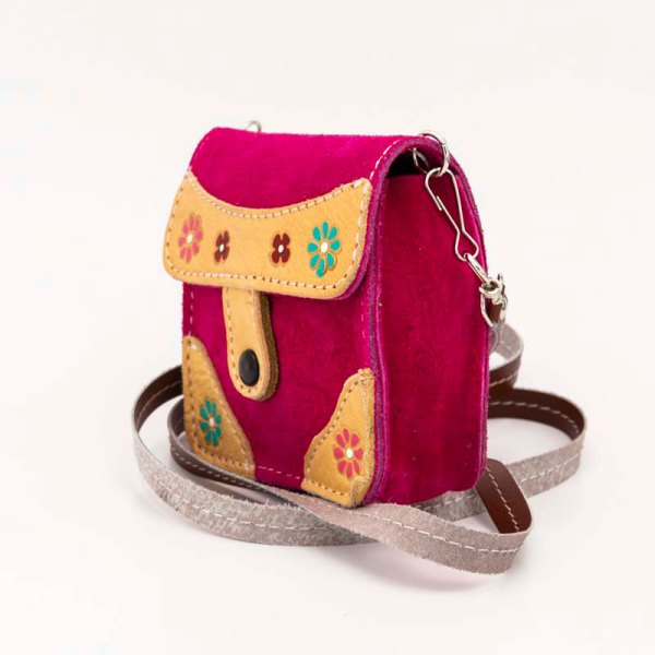 handmade-iris-girls-fuchsia-suede-leather-mexican-handbag-front-view-117