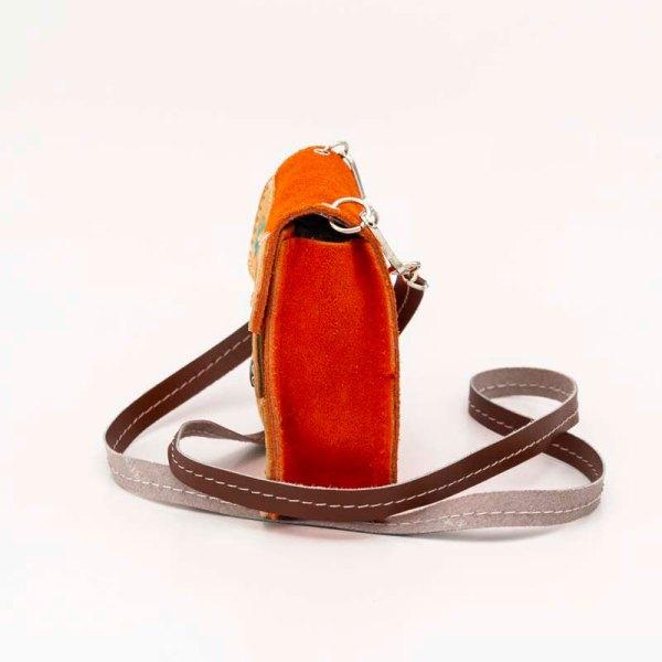 handmade-iris-girls-orange-suede-leather-mexican-handbag-front-view-110