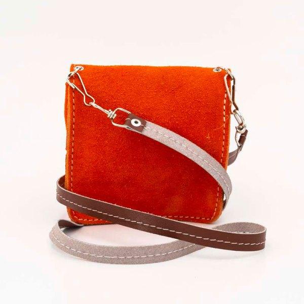handmade-iris-girls-orange-suede-leather-mexican-handbag-front-view-111