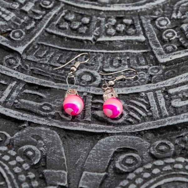 swirl-hand-blown-glass-pink-silver-earrings-131