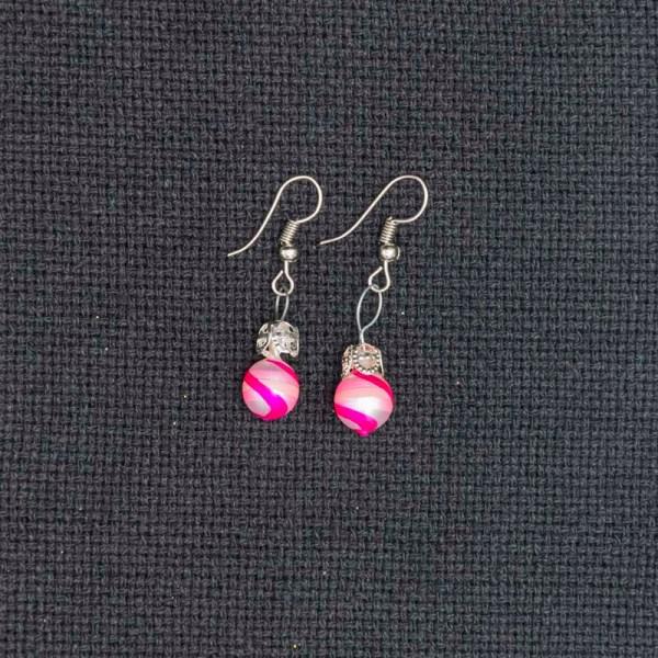 swirl-hand-blown-glass-pink-silver-earrings-133