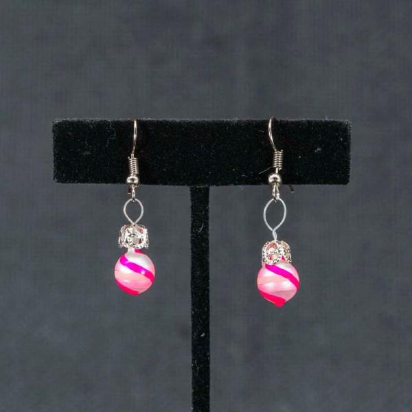 swirl-hand-blown-glass-pink-silver-earrings-134