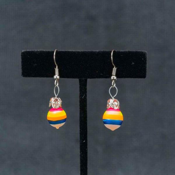 twirl-hand-blown-glass-pink-yellow-blue-earrings-091