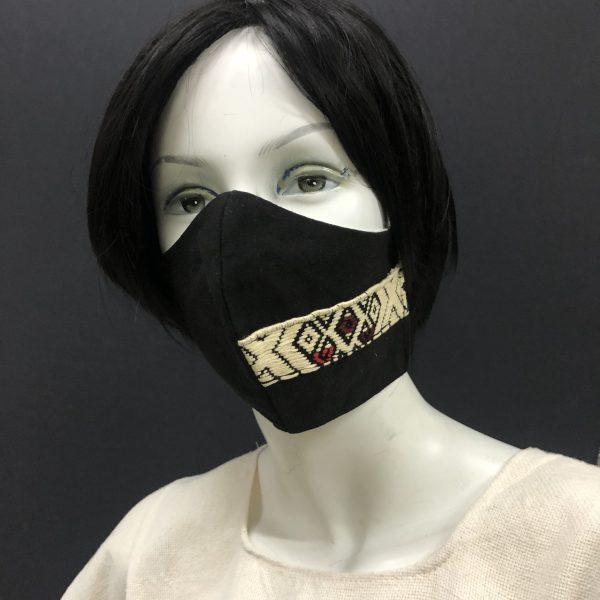 Maniqui with handmade Mexican Sarape Face Mask