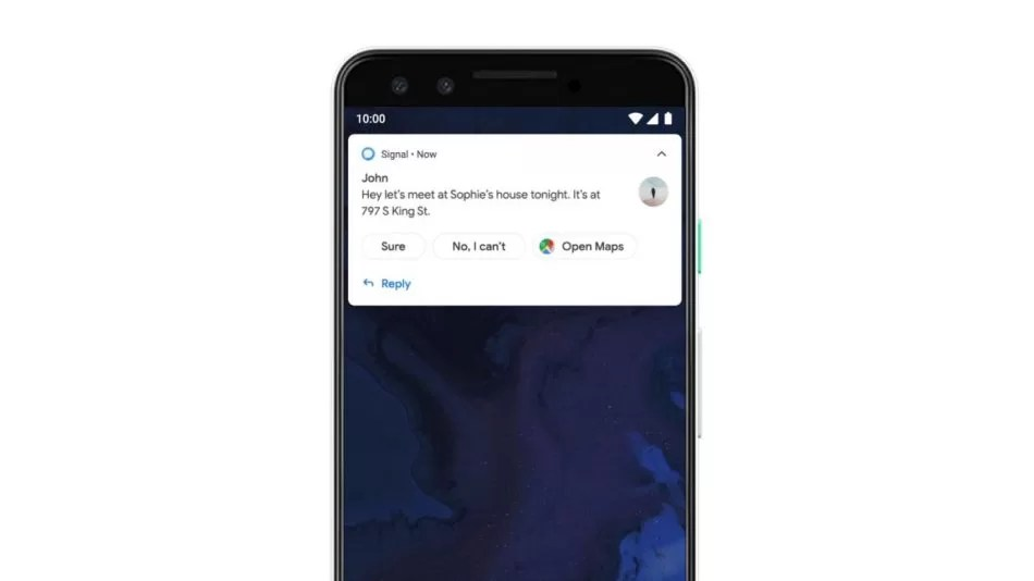 Android Q Smart Reply