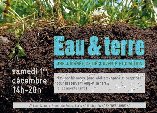 Journée eau & terre organisée par Terre de Liens le samedi 1° décembre