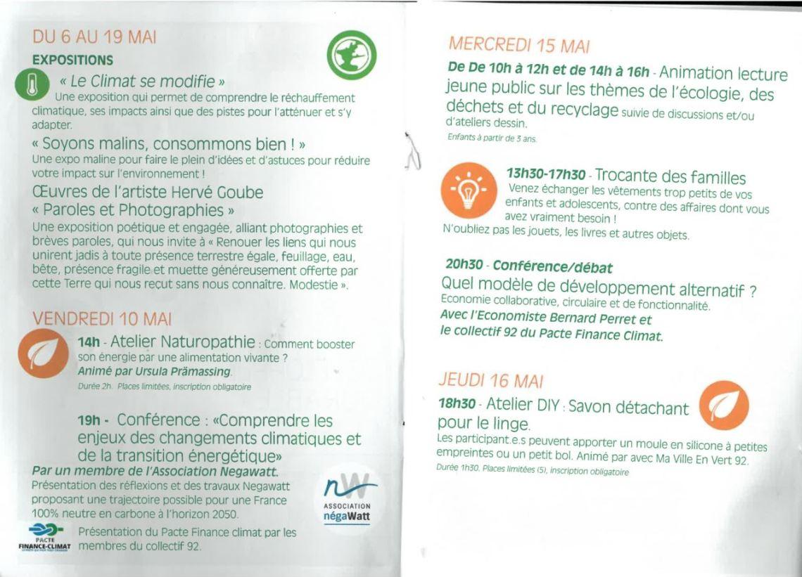 programme quinzaine développement durable chatillon