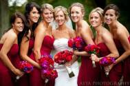 Red rose bouquets Merion Tribute House Wedding