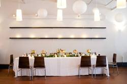 Manayunk Brewery wedding flower reception by Amaranth Florist