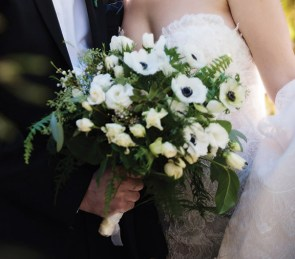 white wedding bouquet by Amaranth florist, PA