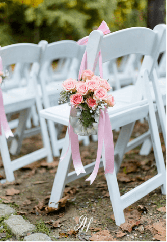 wedding ceremony flower decoration Amaranth florist narberth pa
