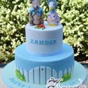 Two Tier Peter Rabbit Cake - Amarantos Designer Cakes Melbourne