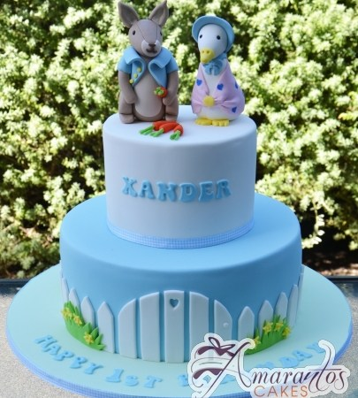 Two tier Peter Rabbit cake – AC304