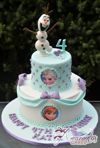 Two tier Frozen Cake – AC316 – 1st Birthday Amarantos Cakes