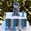 Base cake with Teddy - Celebration Cakes Melbourne - Amarantos