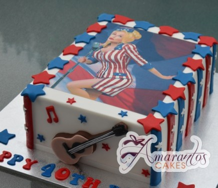 Dolly Parton Birthday Cake - Amarantos Cakes Melbourne