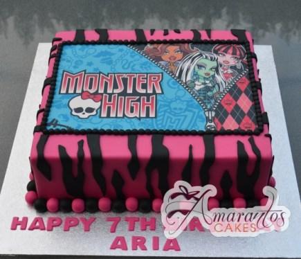 Monster High Birthday Cake - Amarantos Cakes Melbourne