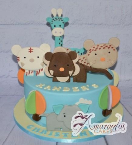 3D Baby Jungle Animals Cake - Amarantos Designer Cakes Melbourne