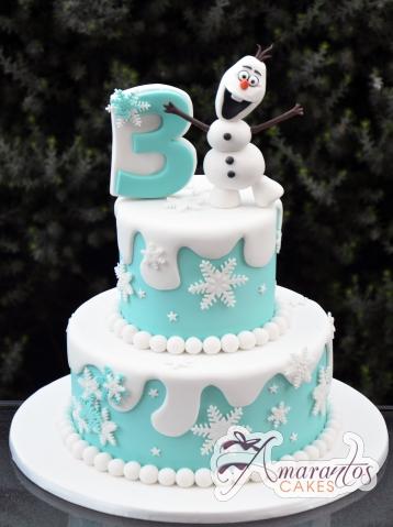 Snowman Birthday Cake - Amarantos Birthday Cakes Melbourne