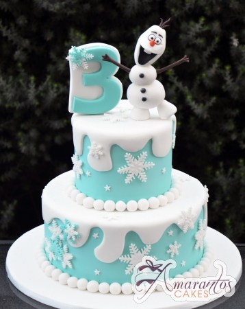 Two tier Frozen Cake – AC355