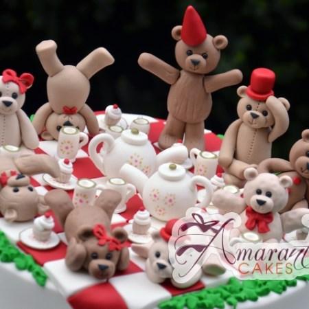 Teddy Bear Tea Party Cake - Amarantos Birthday Cakes Melbourne