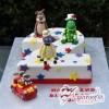 Wiggles Number Cake - Amarantos Designer Cakes Melbourne