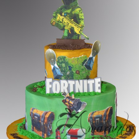 Two tier Fortnite Cake – AC410