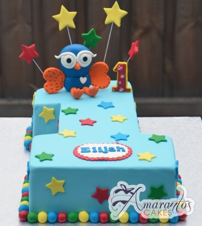 Number cake with Hoot- AC411