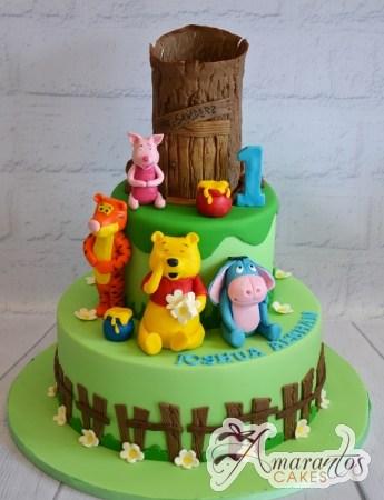 Two Tier Pooh Bear cake – AC417