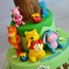 Two Tier With Pooh Bear Cake - Amarantos Designer Cakes Melbourne
