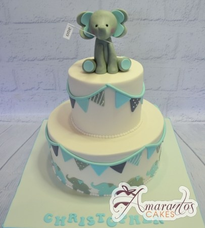 Two tier with elephants cake – AC438