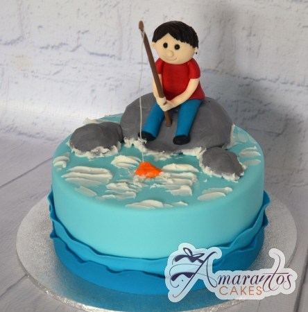 Base cake with fishing theme – AC439