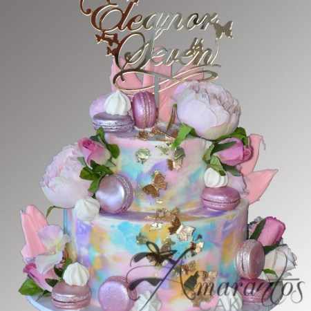 Two tier butterfly cake – AC479