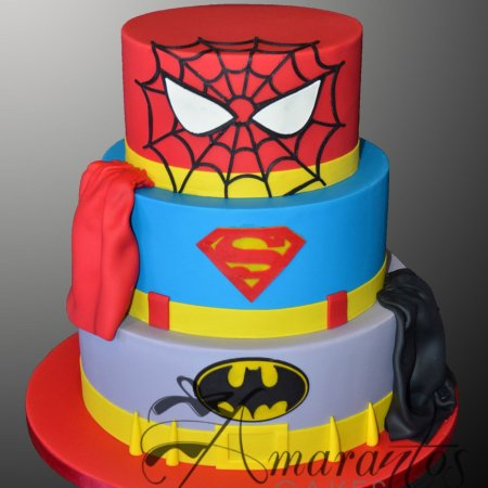 Three tier super hero cake – AC505