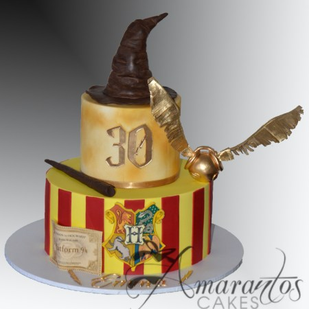 Two tier Harry Potter cake- AC526