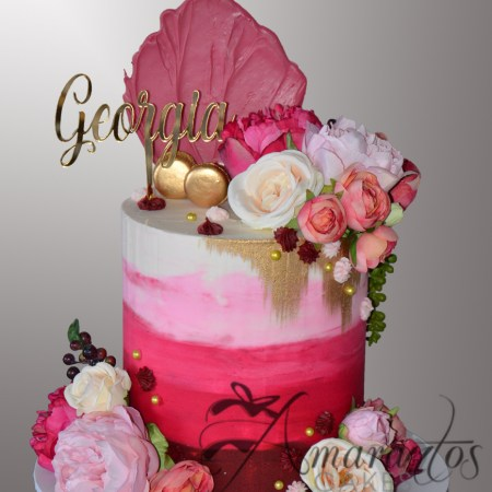 Two tier Ombre Cake – AC538