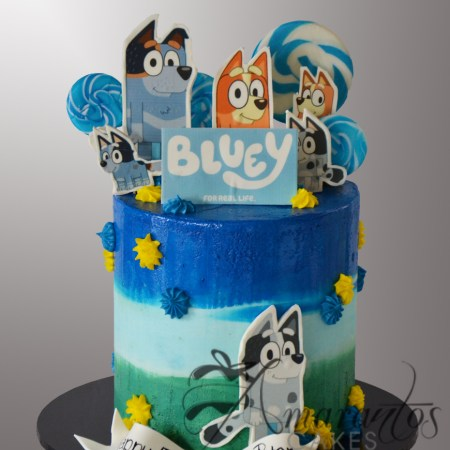 Two tier Bluey and Bingo Cake – AC545